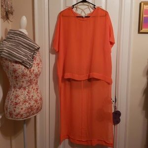 NWOT SIMPLY BE HIGH LOW CHIFFON TUNIC
